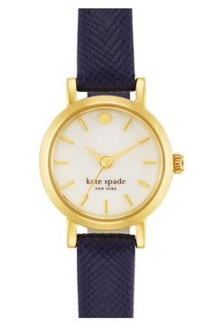 kate spade new york 'tiny metro' leather strap watch @Nordstrom