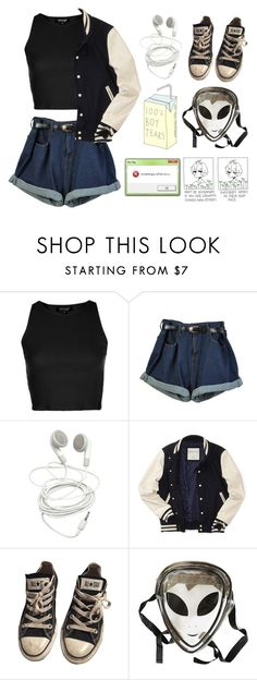 """""""Untitled #510"""" by jaykitten123 ❤ liked on Polyvore featuring Topshop, Aéropostale, Converse and Gucci"""
