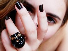 Black Nail Tips: Easy Way to be Elegant: Gothic Nail Painting Ideas Plain Black ~ fixstik.com Nail Designs Inspiration