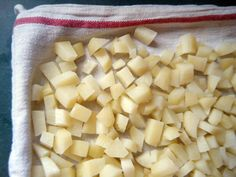 freezing potatoes for hash browns That they won't turn black! boil your potatoes.( cut large potatoes in half ) stick a fork through them to make sure they are done all the way through or they will turn black when you freeze them.After boiled them put them in a bowl of cold water and refrigerate over night. Drain water and pat dry.shred, slice or dice them.Freeze.