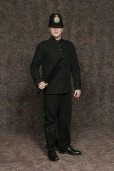 $30.00 Costume Rental  Bobby Cop  black pants w/tux detailing, black coat, bobby hat (4 avail.)