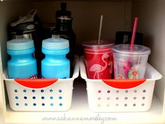 Love this idea - we have so many water bottles and cups.