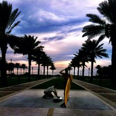 The Surfer Statues - Jacksonville Beach, Florida Jacksonville Fla, Ponte Vedra Beach, Us Beaches, Beach Town, White Sand Beach, Vacation Destinations, Adventure Travel, Surfing, Scenery