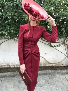 Style Outfits With Hats, Cool Outfits, Fashion Outfits, Race Day Fashion, Race Wear, Booties Outfit, Feminine Style, Ladies Day, Lace Dress