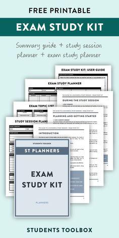 This exam study plan