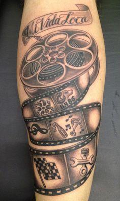 cinema roll tattoo - Buscar con Google