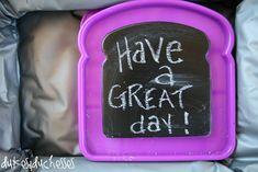 Chalkboard Paint Lunchbox Notes. #backtoschool