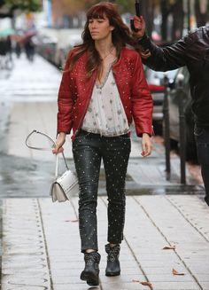 Jessica Biel's Glamorous Casual Look in Paris