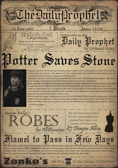 Not quite like the real Daily Prophet. Probably looks this way to muggles (I see the sideways font, don't you?)