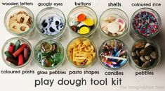 Love this  Play Dough Tool Kit from The Imagination Tree. Stocking our play dough centers now. Playdough Activities, Toddler Activities, Summer Activities, Indoor Activities, Preschool Ideas, Family Activities, Preschool Activities, Motor Skills Activities, Fine Motor Skills