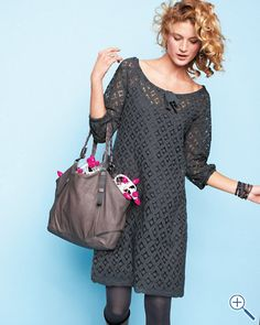 """This is a good """"Bohemian lace dress"""" Loose fitting, and the lace adds so much to the look."""