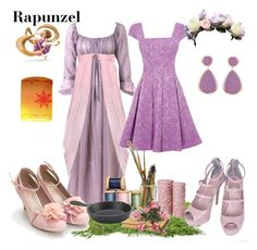 """Rapunzel"" by wonderlandofgeeks ❤ liked on Polyvore featuring Thierry Colson, Disney, Warehouse, Adami & Martucci, Blissliving Home, Crate and Barrel, disney, rapunzel and tangled"