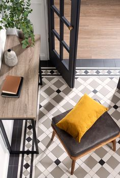 Original Style is a leading manufacturer and supplier of bathroom and kitchen tiles sold by independent retailers throughout the UK. Victorian Hallway Tiles, Tiled Hallway, Hall Flooring, Bedroom Flooring, Hall Tiles, Room Tiles, Flur Design, Hallway Designs, Small Hallways