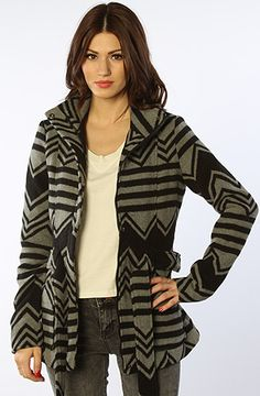 c1ef2e3494 The Odele Charlie Stripe Wool Coat in Black and Midnight Heather Gray by  Jack BB Dakota Shop now or for yourself and or someone else.