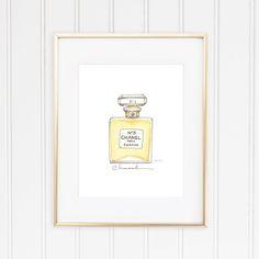 Coco Chanel, No. 5 Perfume Watercolor Fashion Illustration by StephanieJimenez on Etsy https://www.etsy.com/listing/199132373/coco-chanel-no-5-perfume-watercolor