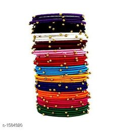 Checkout this latest Bracelet & Bangles Product Name: *Trendy Plastic & Silk Thread Bangles* Base Metal: Thread Stone Type: Artificial Beads Sizing: Non-Adjustable Type: Bangle Set Multipack: More Than 10 Sizes:2.2, 2.4, 2.6, 2.8, 2.10 Country of Origin: India Easy Returns Available In Case Of Any Issue   Catalog Rating: ★4.2 (1049)  Catalog Name: Feminine Elegant Plastic & Silk Thread Bangles Vol 1 CatalogID_206007 C77-SC1094 Code: 233-1584920-8601