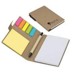 The Handy Jotter Promotional Valu-Mark EcoFriendly Recycled Pen, Note & Flag Set | Promotional Notepads | Promotional Products
