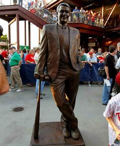 Harry Kalas statue.  #Phillies love