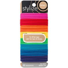 Stylize No Snag Elastics, Bright: These bright coloured No Snag elastics glide on and off any ponytail with ease and without pulling or tugging. These elastics have no metal parts, and are designed for all hair types. Luxury Beauty, Hair Ties, Hair Accessories, Bright, Shop, Products, Ribbon Hair Ties, Hair Tie, Gadget