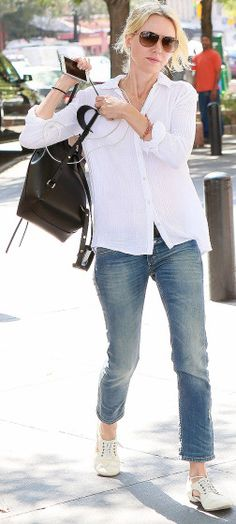 Naomi Watts keeps it casual in New York on Tuesday.