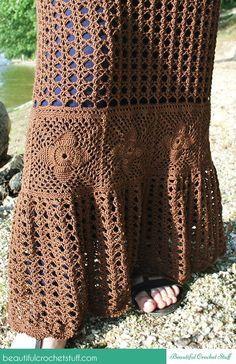 Crochet maxi skirt free pattern @crochet_stuff