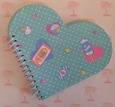 Sanmare heart shaped notebook (Iron Lace) Tags: cute kitsch fresh 80s kawaii punch 1980s stationery sanmare