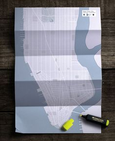 Faber Castell: Map #advertisements #graphics #design