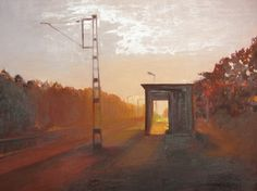 "Saatchi Online Artist Marta Zamarska; Painting, ""A Railway Impression VII  ( in private collection of German ambassador)"" #art"