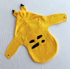 Baby Swaddle blanket Pikachu sleeper Newborn  by xAnkleBitersKidsx