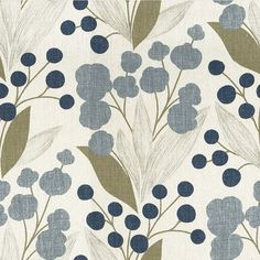 Aegean Capparis Upholstery Fabric by CuttingCloth on Etsy, $58.00