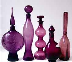 Unique Purple Bottles