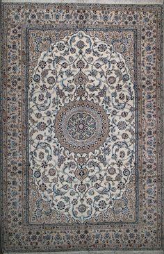 """Nain Persian Rug, Buy Handmade Nain Persian Rug 6' 11"""" x 10' 4"""", Authentic Persian Rug"""