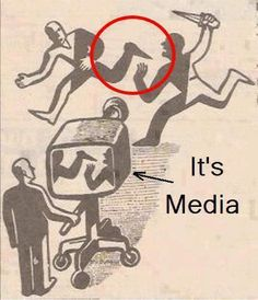 We are the media; we may listen to 'them' and have them influence/shape our perception of the world we live in. But in the end we embody the exact purpose and meaning of the media; so in this sense we are the media. Are we to blame, or are they to blame for the world we live in?