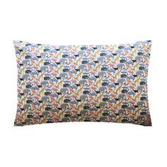 Liberty Print Pillowcase - Queue for the Zoo Yellow