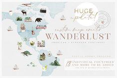 WANDERLUST - Custom Map Creator by OpiaDesigns on @creativemarket