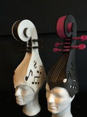 Violin foam hat/foamwig/hat/cosplay/theme by LadyMallemour on Etsy