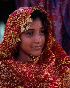 young village girl, Orissa, India