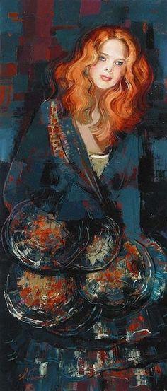 "Irene Sheri Oil Painting ""Emergence"""