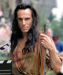 Daniel Day Lewis as Hawkeye in Last of the Mohicans