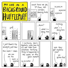 LIFE AS A BACKGROUND HUFFLEPUFF