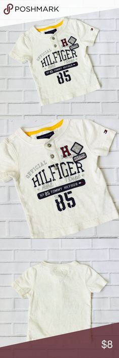 Make Bundle Offer🔸 Boys Tommy Hilfiger T-Shirt 🔹Like items 🔹Add to a bundle 🔹Make bundle offer   ▫️Brand: Tommy Hilfiger  ▫️Size: 6-9M ▫️Material: Cotton ▫Condition: Preowned  ▫️Flaws: None  ▪️NO Trade/Hold ▪️Next Day Shipping ▪️Smoke Free/Kitty Friendly Home Tommy Hilfiger Shirts & Tops Tees - Short Sleeve
