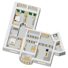 3D план с мебелью