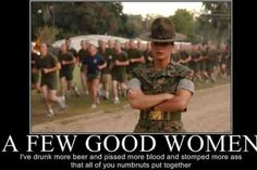 Female Marines...you don't understand unless you've been there.