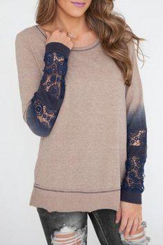 dip dyed sleeves