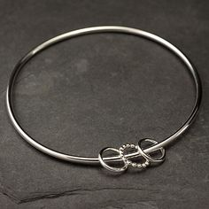 Sterling Silver Bangle Silver Charm Bracelet Charm by Artulia, $48.00
