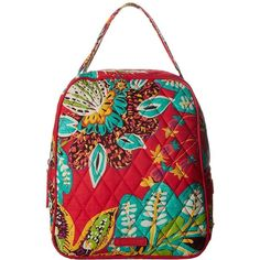 Vera Bradley Lunch Bunch (Rumba) Bags found on Polyvore featuring polyvore, women's fashion, bags, red quilted bag, red bag, strap bag, handle bag and quilted bag