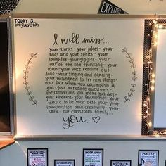 Last day message - I also LOVE the twinkle lights around the board
