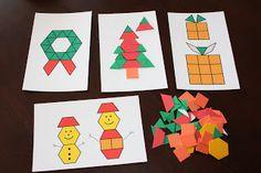 Christmas tangram cards