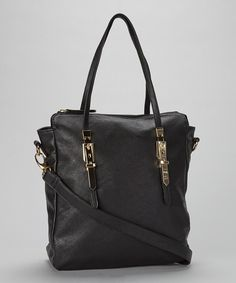 Love this Black Vegan Leather Tote by Adhesion, LLC on #zulily! #zulilyfinds
