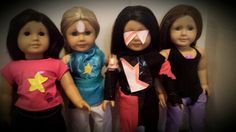 Homemade  Steven universe costumes for my  american girl dolls